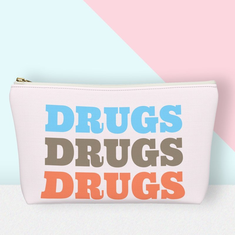 Drugs Zippered Pouch