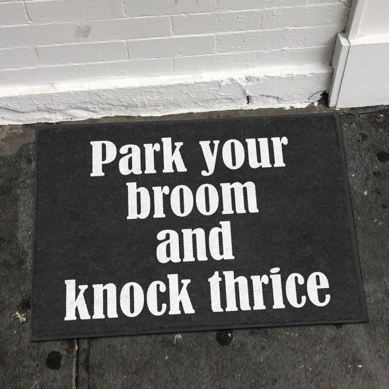 Park Your Broom Doormat