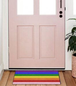 NEW LGBT Rride Rainbow Welcome Mat