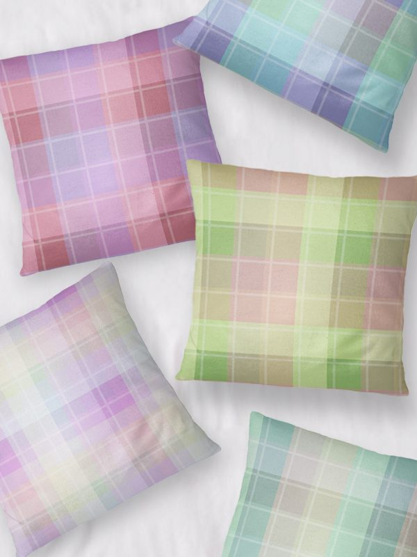 Preppy Madras Throw Pillows