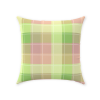 Madras Green and Pink Plaid Pillow