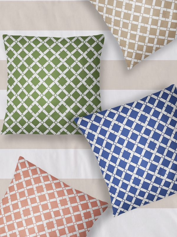 Bamboo Lattice Decor Pillows