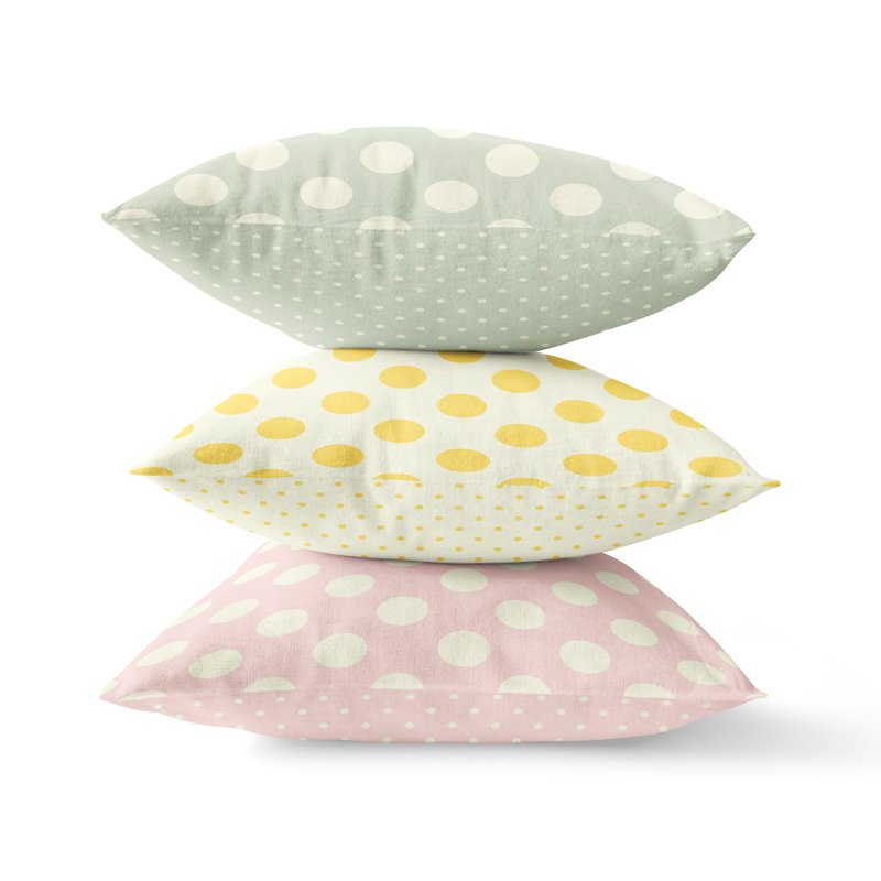Polka Dot Throw Pillows