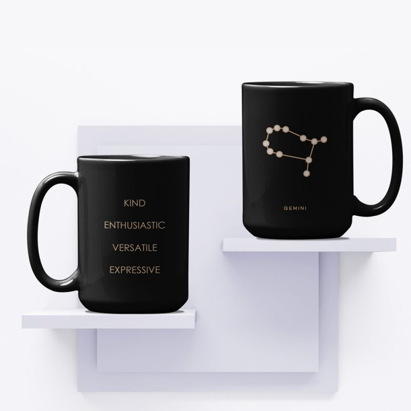 Gemini Zodiac Mug with Constellation Astrology Traits
