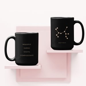 Mug on shelf Sagittarius Black