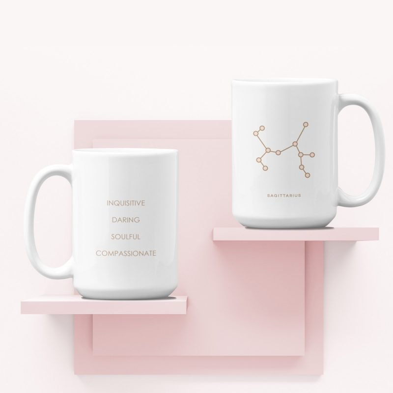 Sagittarius Zodiac Mug with Constellation Astrology Traits