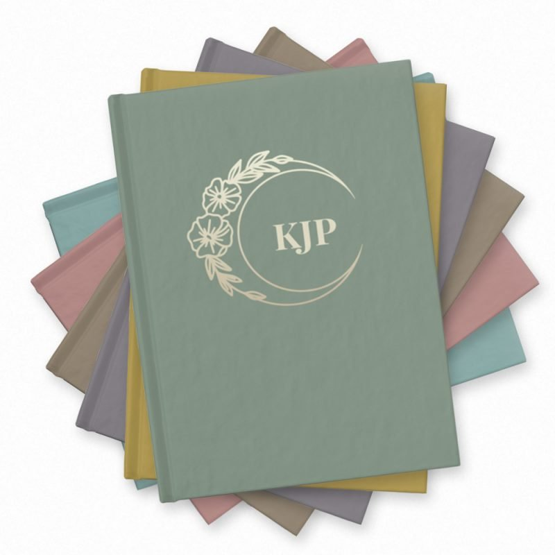 Floral Moon Monogram Journal