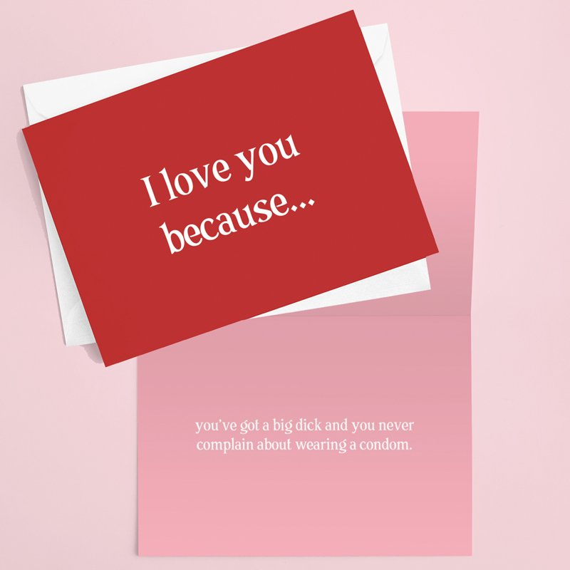 I love you Because Valentines Card 2X2