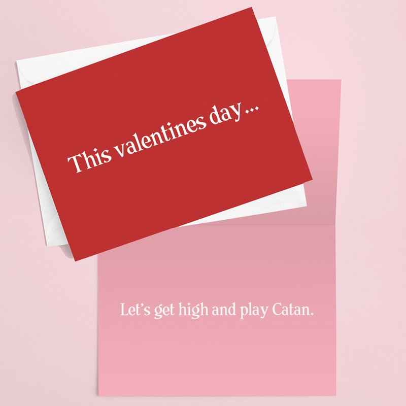 Get High Valentines Card
